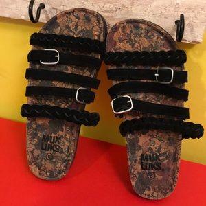 Muk Luks Sandals Comfort Slip on Shoes